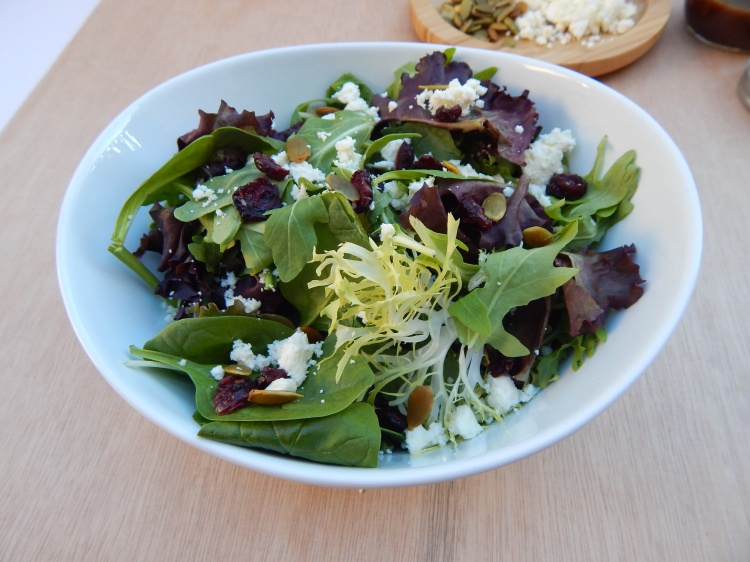 Cranberry Feta Pumpkin Seed Fall Salad Balsamic Vinaigrette (3)