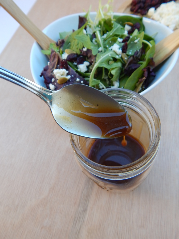 Cranberry Feta Pumpkin Seed Fall Salad Balsamic Vinaigrette (7)