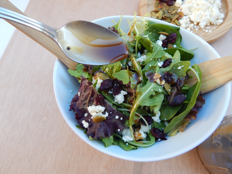 Cranberry Feta Pumpkin Seed Fall Salad Balsamic Vinaigrette (8)