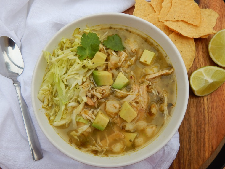 Slow Cooker Chicken Pozole Verde 014