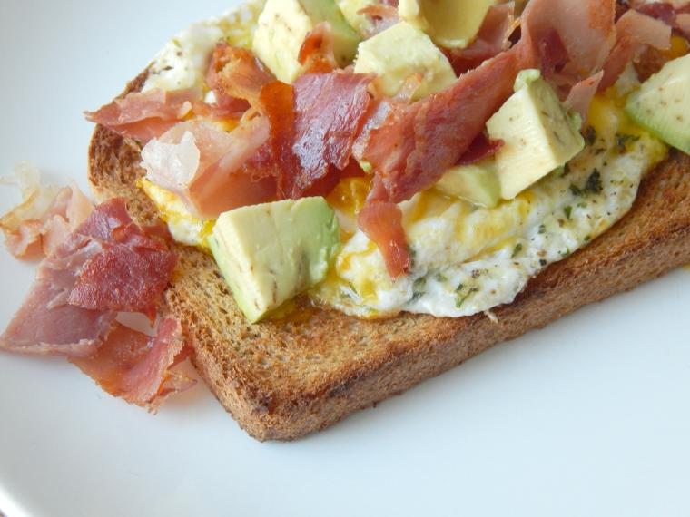 Prosciutto Egg Avocado Toast 10